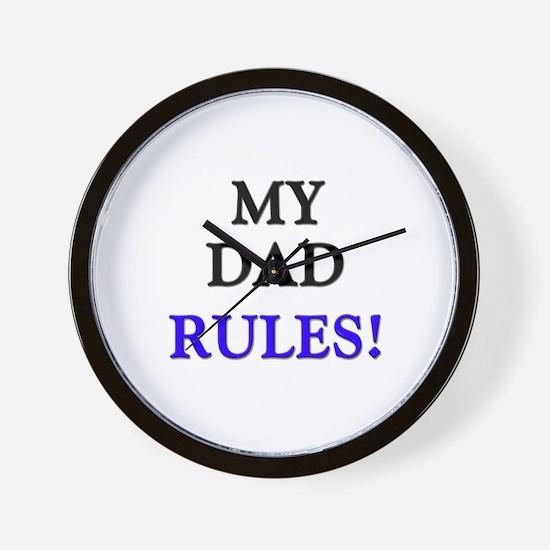My DAD Rules! Wall Clock