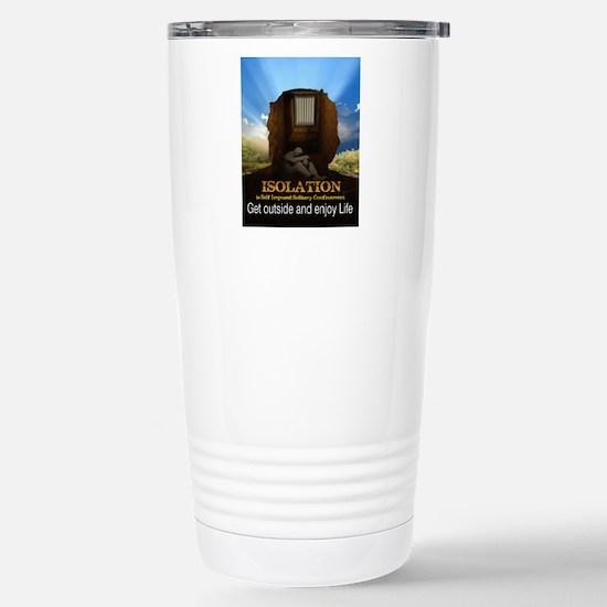 Isolation Poster Stainless Steel Travel Mug