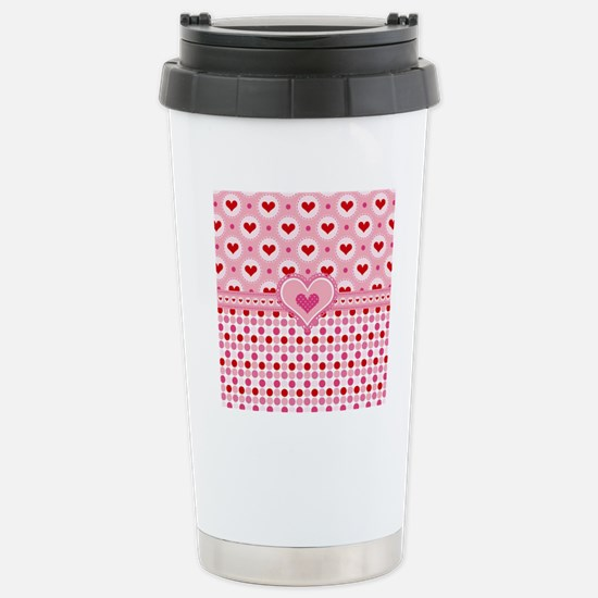Country Hearts Stainless Steel Travel Mug