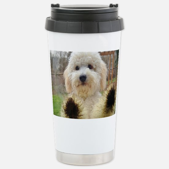 Goldendoodle Puppy Dog Stainless Steel Travel Mug
