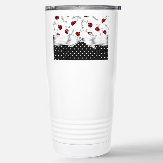 Ladybug Dreams Stainless Steel Travel Mug