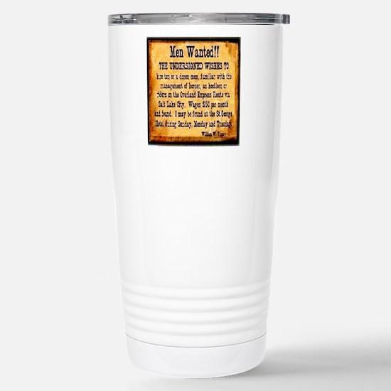 MEN WANTED Stainless Steel Travel Mug
