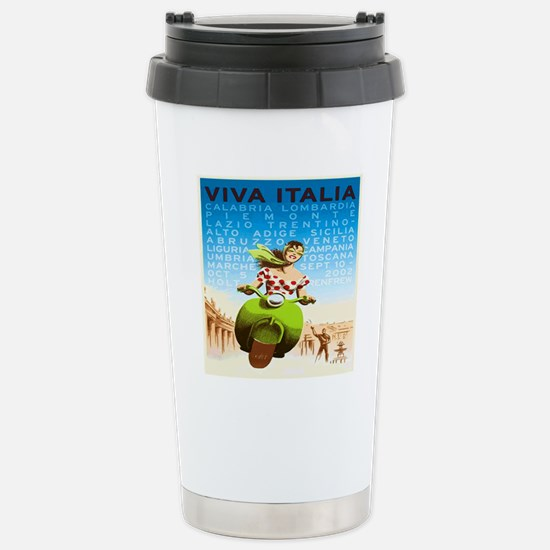 Vintage Viva Italia Pos Stainless Steel Travel Mug