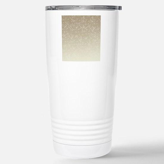 Cream Sparkles Stainless Steel Travel Mug