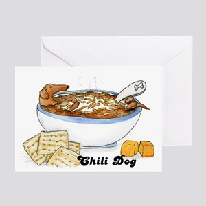 Chili Dog Greeting Cards (Pk of 10)