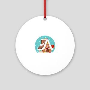 Gingerbread Snowglobe Ornament (Round)