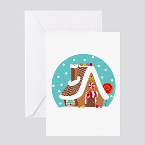 Gingerbread Snowglobe Greeting Cards