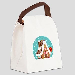 Gingerbread Snowglobe Canvas Lunch Bag