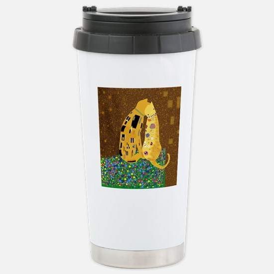 Klimts Kats Stainless Steel Travel Mug