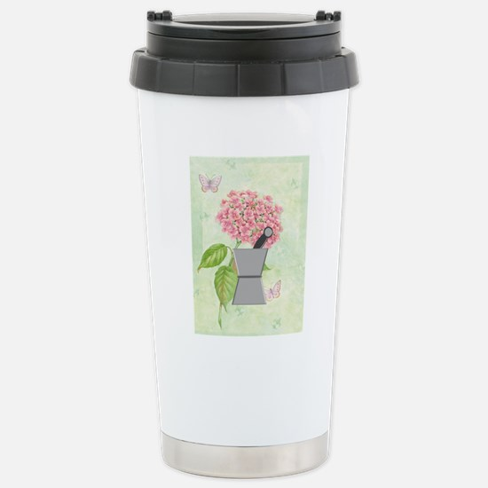 pest and mort hydrangea Stainless Steel Travel Mug