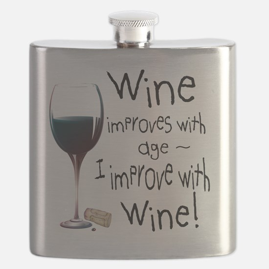 Unique Just like wine i improve with age Flask