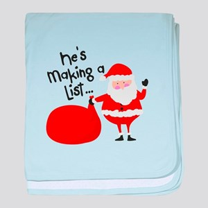 He's Making A List... baby blanket