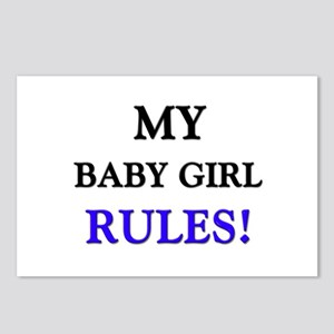 My BABY GIRL Rules! Postcards (Package of 8)