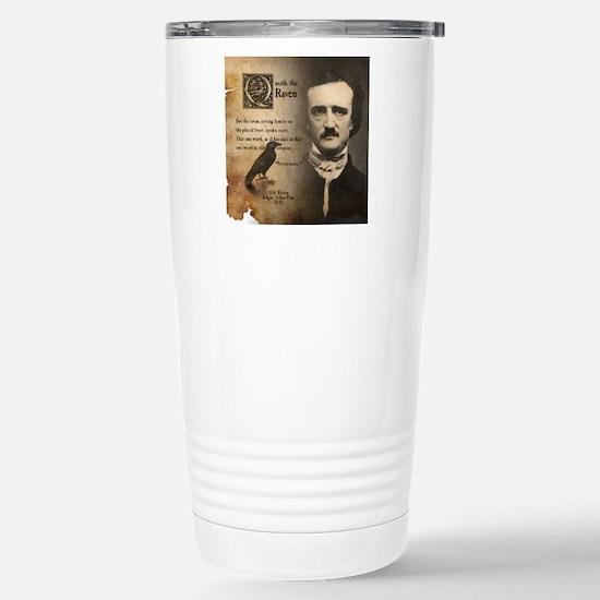 Edgar Allan Poe and Rav Stainless Steel Travel Mug