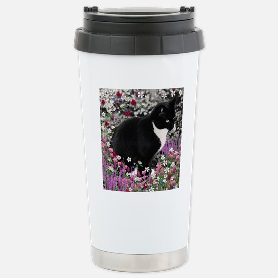 Freckles the Tux Cat in Stainless Steel Travel Mug