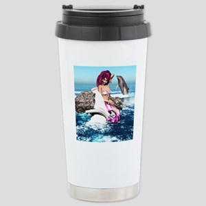 m_round_coaster Stainless Steel Travel Mug