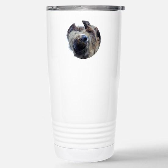 Sloth Round Cocktal Pla Stainless Steel Travel Mug