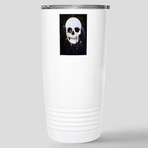 skull illusion coloured Stainless Steel Travel Mug