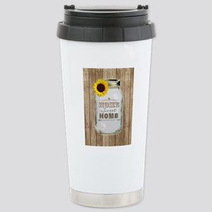 Home Sweet Home Rustic  Stainless Steel Travel Mug