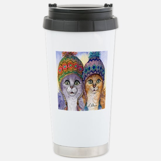 The knitwear cat sister Stainless Steel Travel Mug
