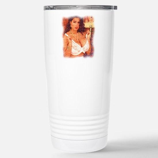 Busty Pinup Girl - Joyc Stainless Steel Travel Mug