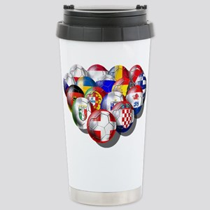 Europe Soccer Stainless Steel Travel Mug