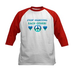 Stop Hurting Each Other Kids Baseball Jersey