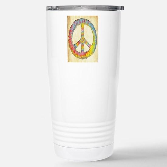 tiedye-peace-713-LG Stainless Steel Travel Mug