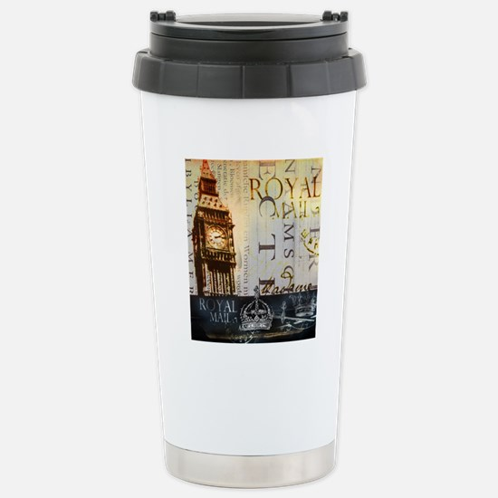 vintage big ben London  Stainless Steel Travel Mug