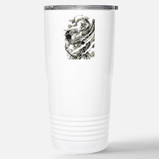 Dragon  Phoenix Tattoo  Stainless Steel Travel Mug