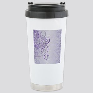 Vintage Rococo Purple D Stainless Steel Travel Mug