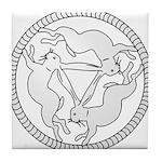 3 Hares Tile Coaster