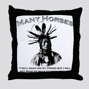 Many Horses 01 Throw Pillow