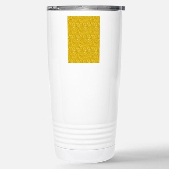 Yellow Swirling Paisley Stainless Steel Travel Mug