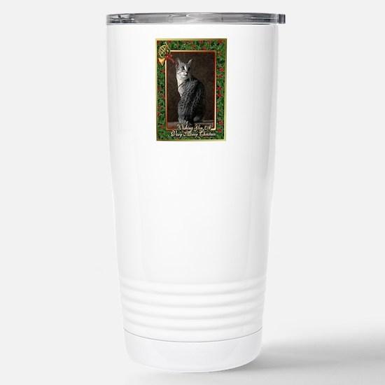 Egyptian Mau Cat Christ Stainless Steel Travel Mug