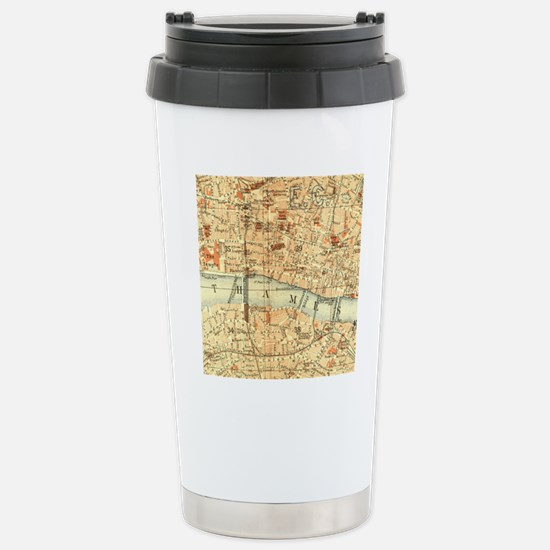 Vintage map of London Stainless Steel Travel Mug