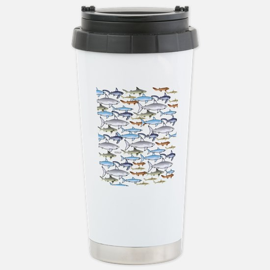 School of Sharks t Stainless Steel Travel Mug