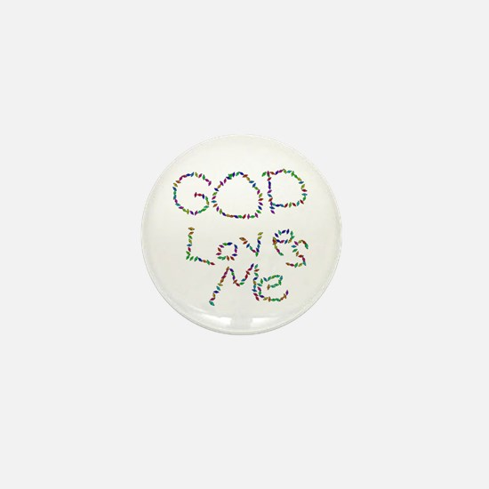 God Loves Me Mini Button