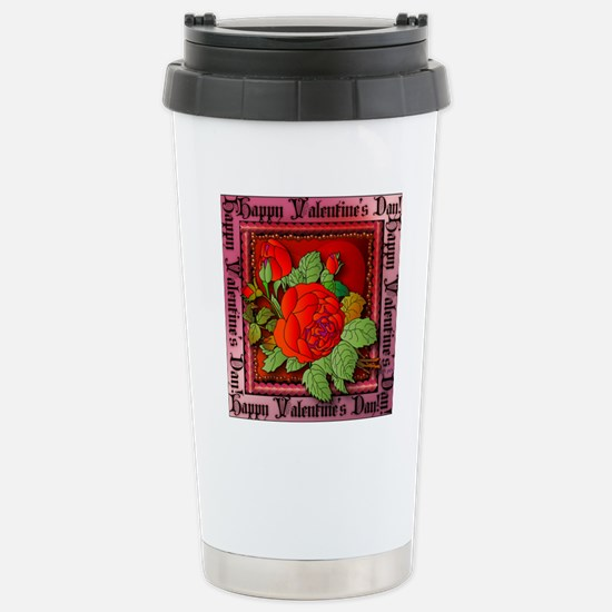 Happy Valentines Stainless Steel Travel Mug