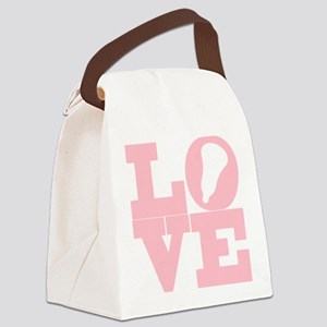 Lacrosse Love Pink Canvas Lunch Bag
