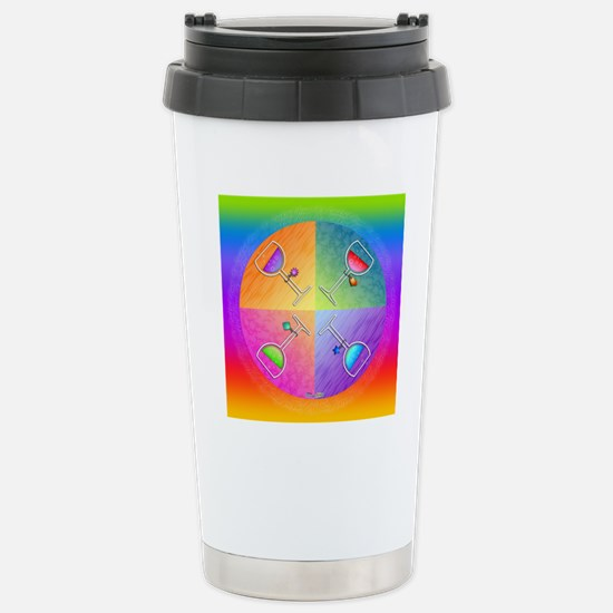 WINE Pop Art Stainless Steel Travel Mug