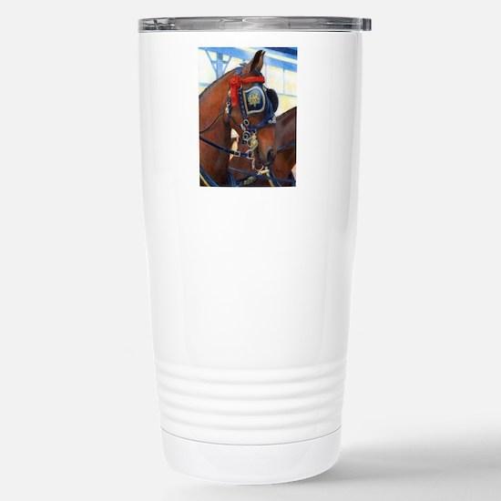 Cleveland Bay Horse Stainless Steel Travel Mug