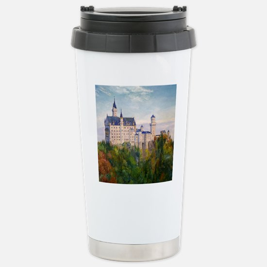 neuschwanstein square Stainless Steel Travel Mug