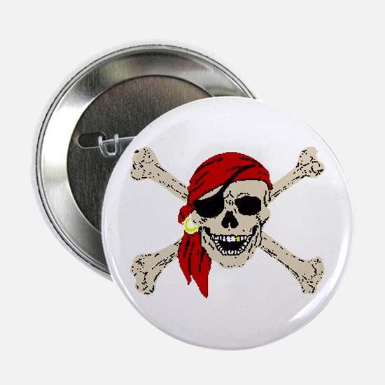 Pirate Skull Button