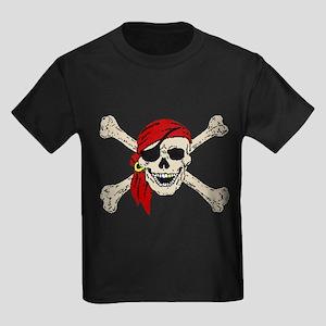Pirate Skull Kids Dark T-Shirt