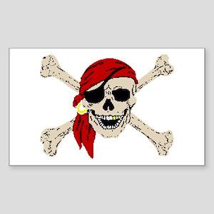 Pirate Skull Rectangle Sticker