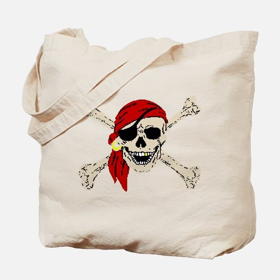 Pirate Skull Tote Bag