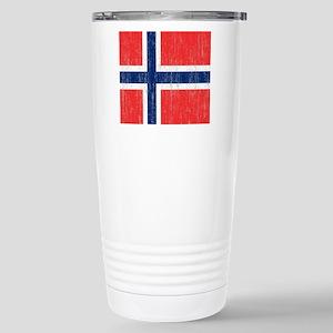 Vintage Norway Flag Kin Stainless Steel Travel Mug