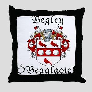 Begley in Irish/English Throw Pillow