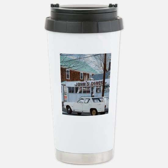 John's Diner Stainless Steel Travel Mug
